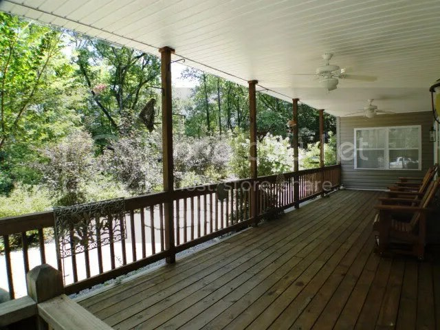Beautiful covered deck to enjoy the mountain days, Smokey Mountain Properties, Blue Ridge Mountain Homes